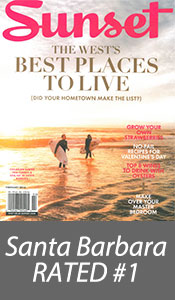 Sunset Magazine - Santa Barbara rated #1 Best Places to Live